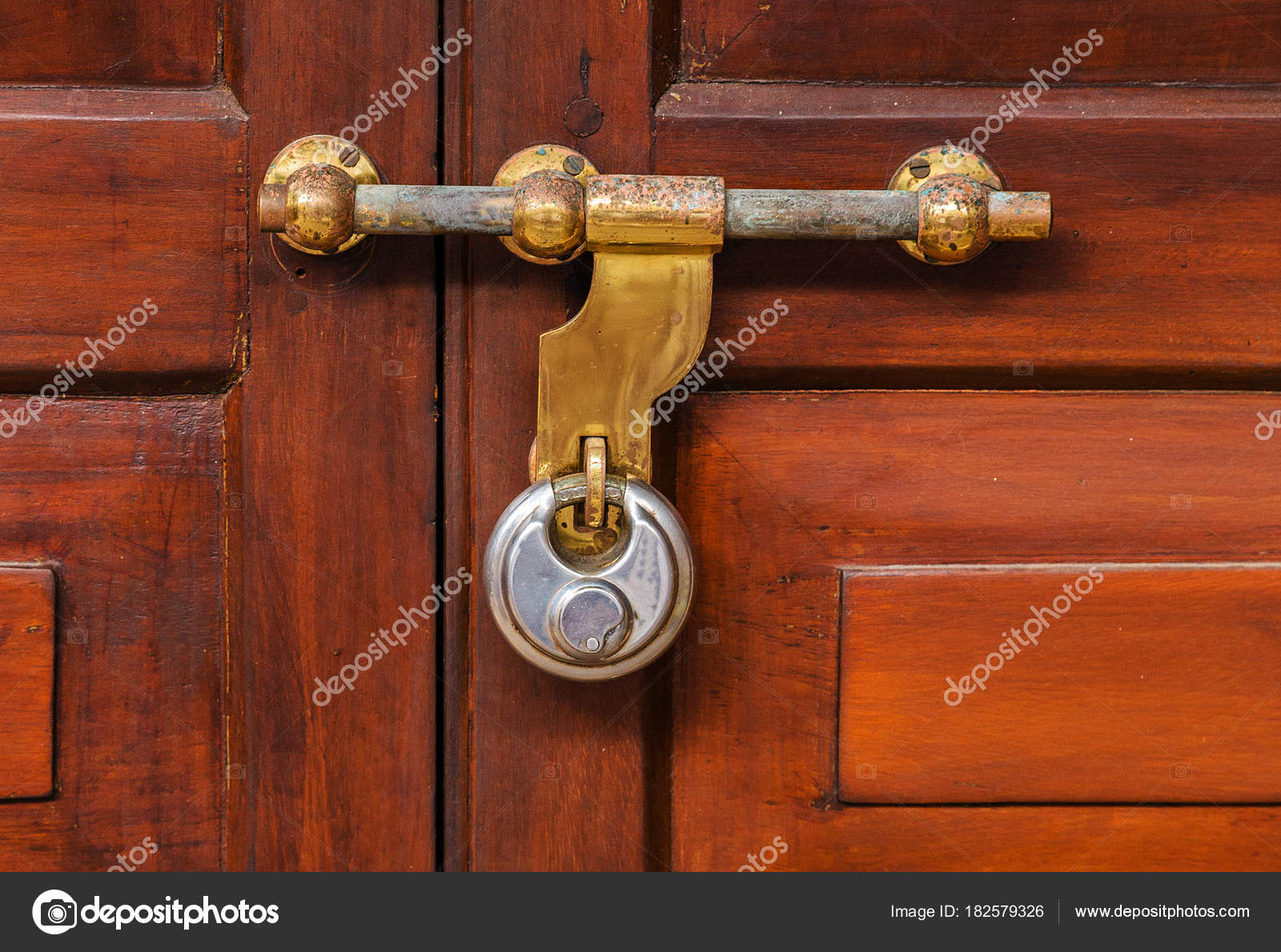 Vintage door handle old fashioned locks stock photo - Old fashioned interior door locks ...