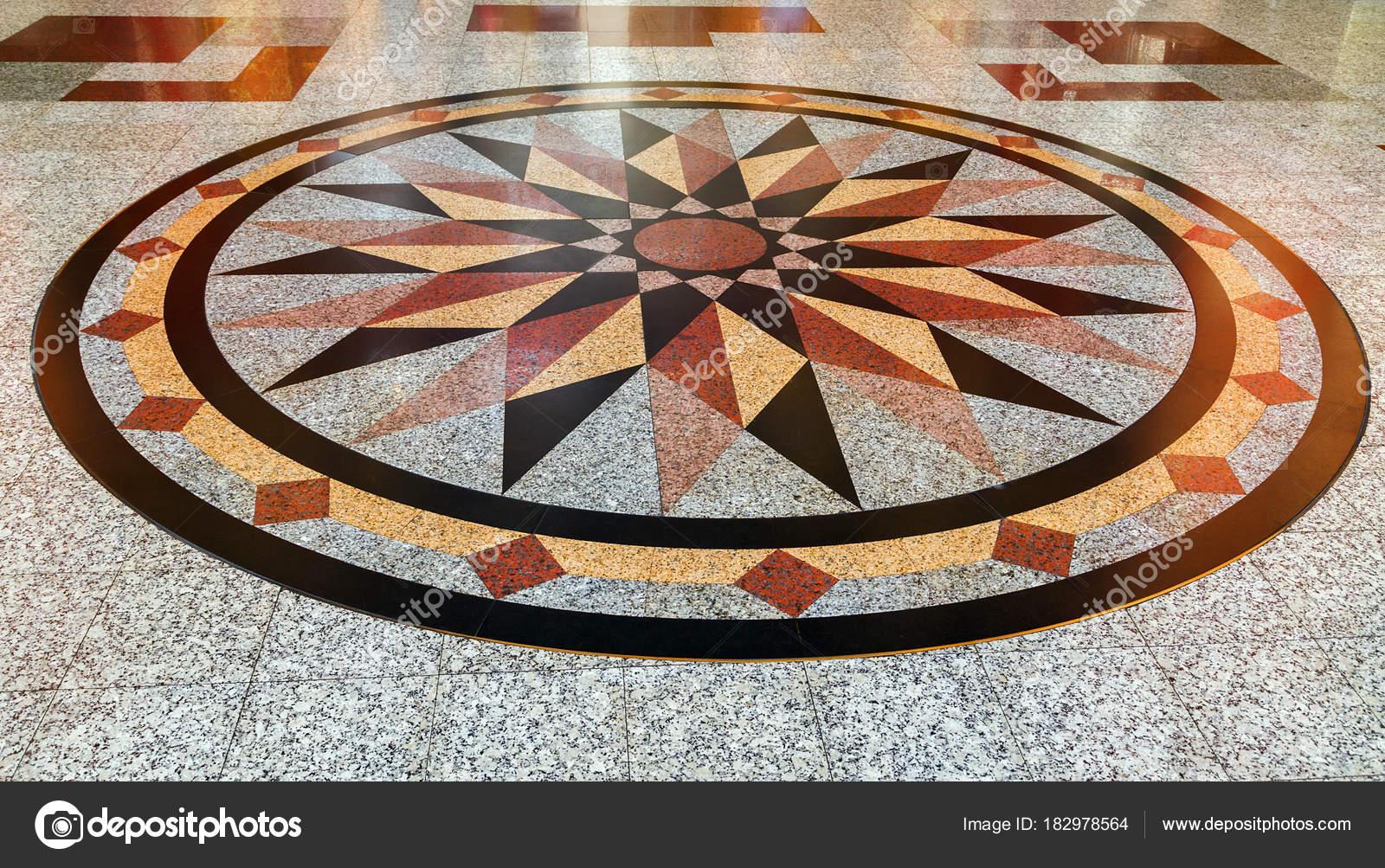 Struttura decorativa in marmo naturale piastrelle a mosaico piano