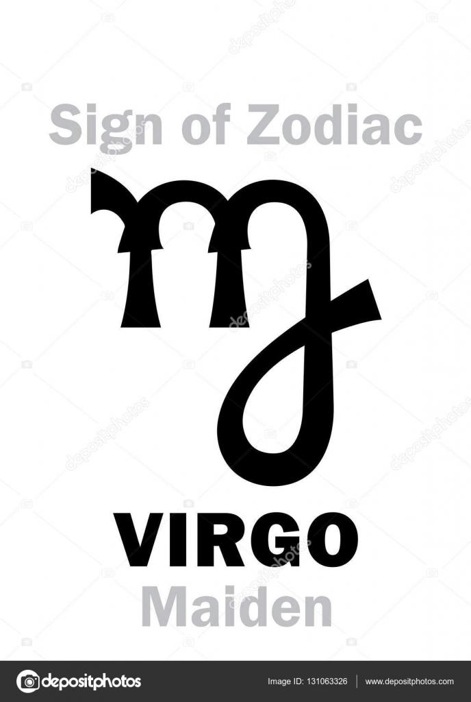 Astrology Sign Of Zodiac Virgo The Maiden Stockvector Photon