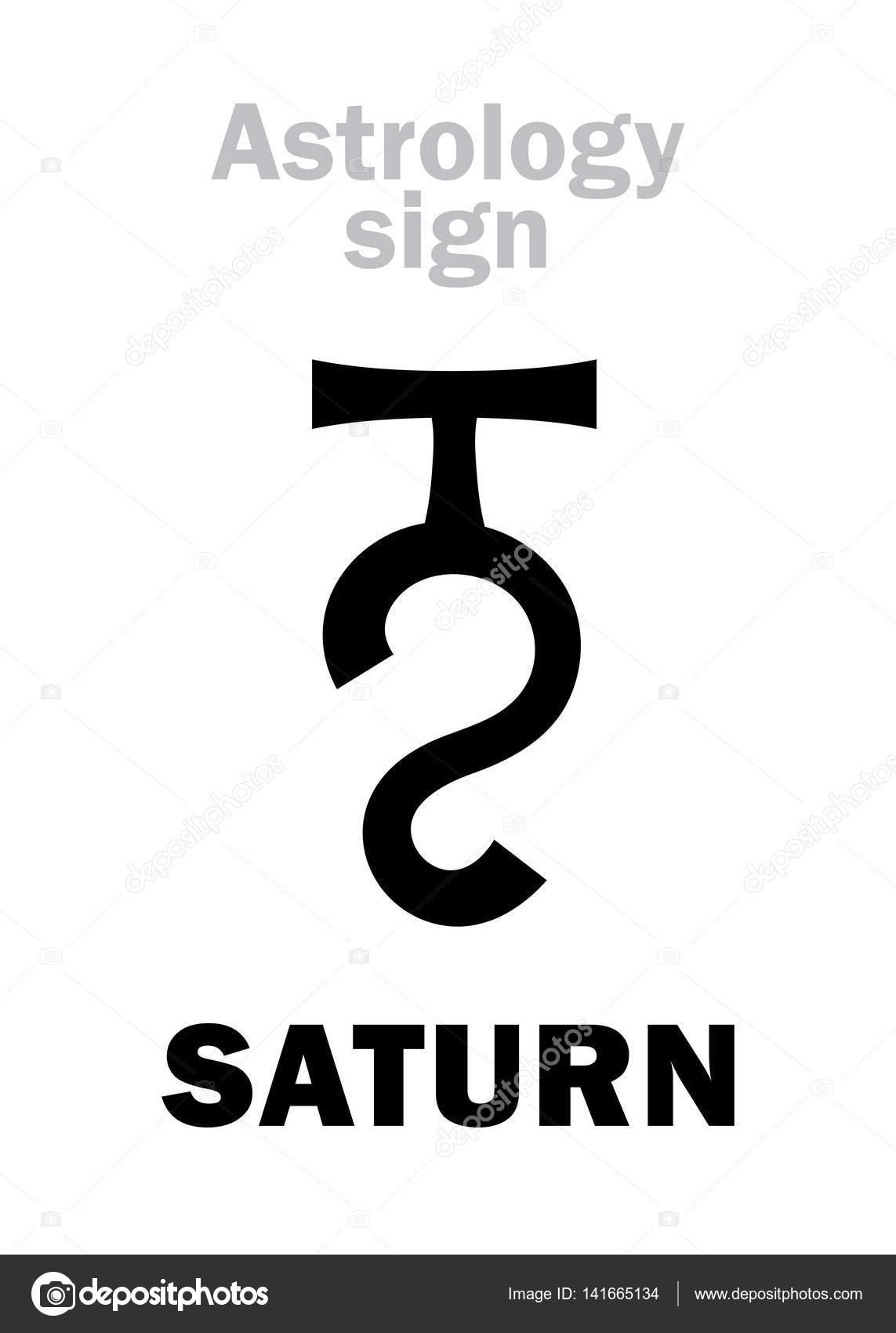 Astrology Planet Saturn Stock Vector Photon 141665134