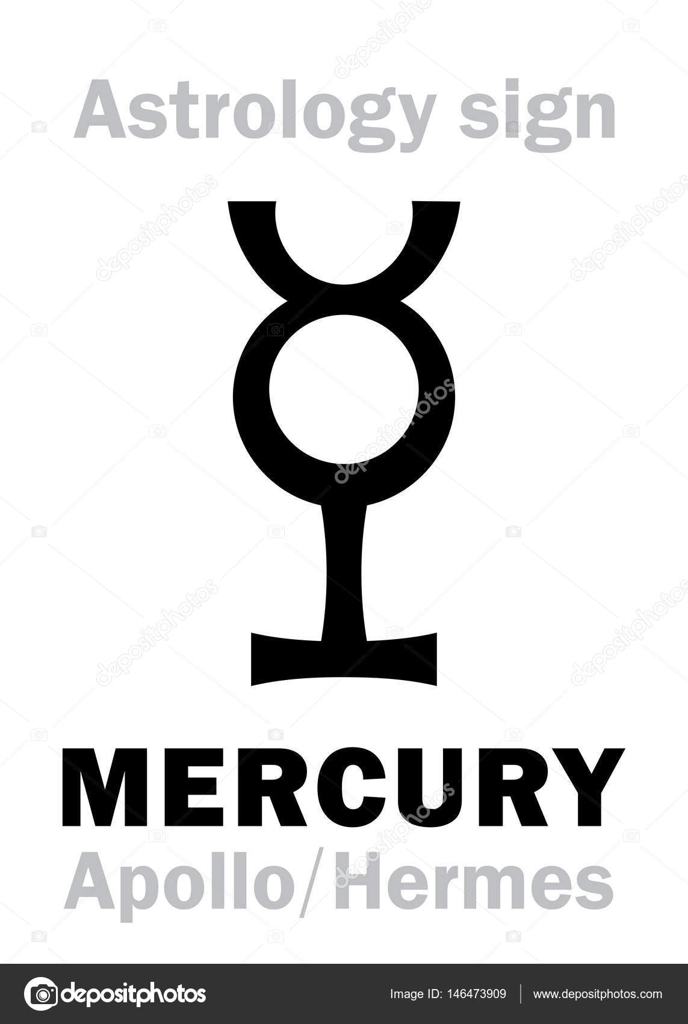 Astrology planet mercury stock vector photon 146473909 astrology alphabet mercury apollo hermes the planetary star planet homodrome hieroglyphics character sign ancient greek symbol vector by photon buycottarizona Choice Image