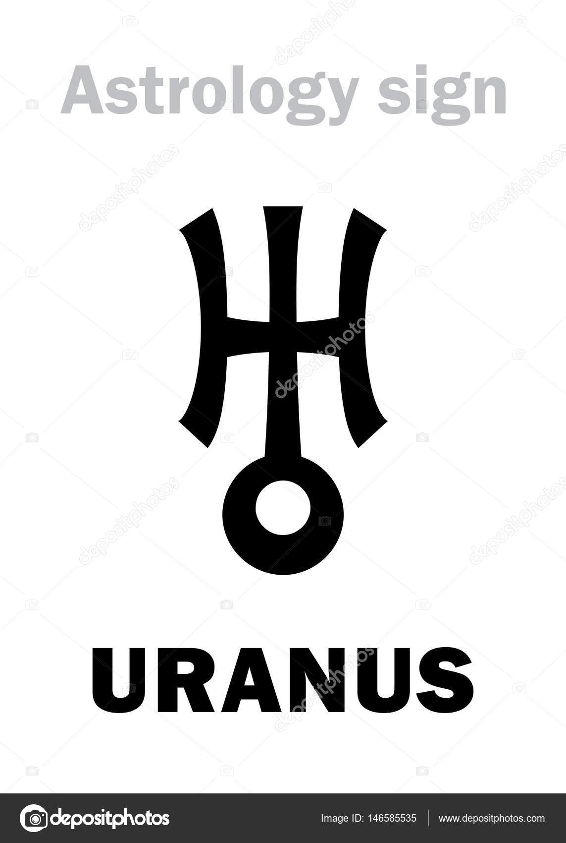 Astrology planet uranus stock vector photon 146585535 astrology alphabet uranus herschel higher global planet hieroglyphics character sign single symbol vector by photon biocorpaavc Gallery