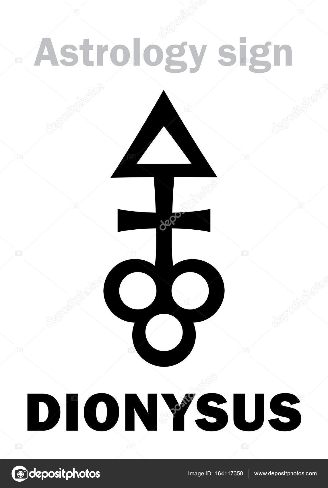 Astrology Asteroid Dionysus Stock Vector Photon 164117350