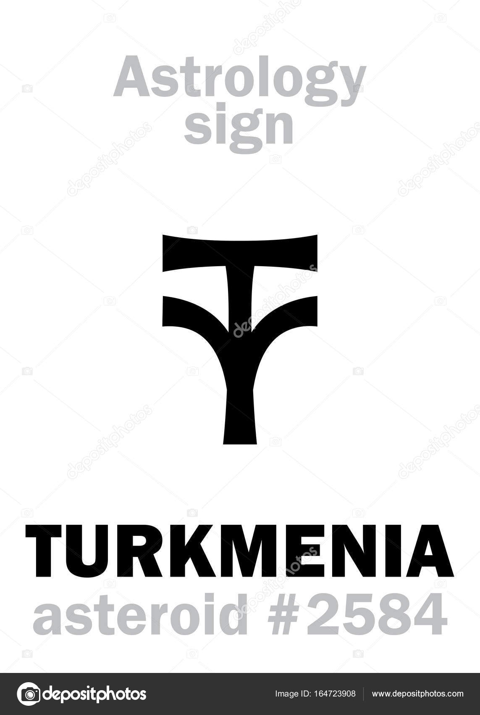 Astrology: asteroid TURKMENIA — Stock Vector © Photon #164723908