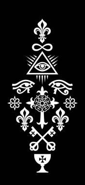 CHRISTIAN COLUMN (Symbols of Faith)