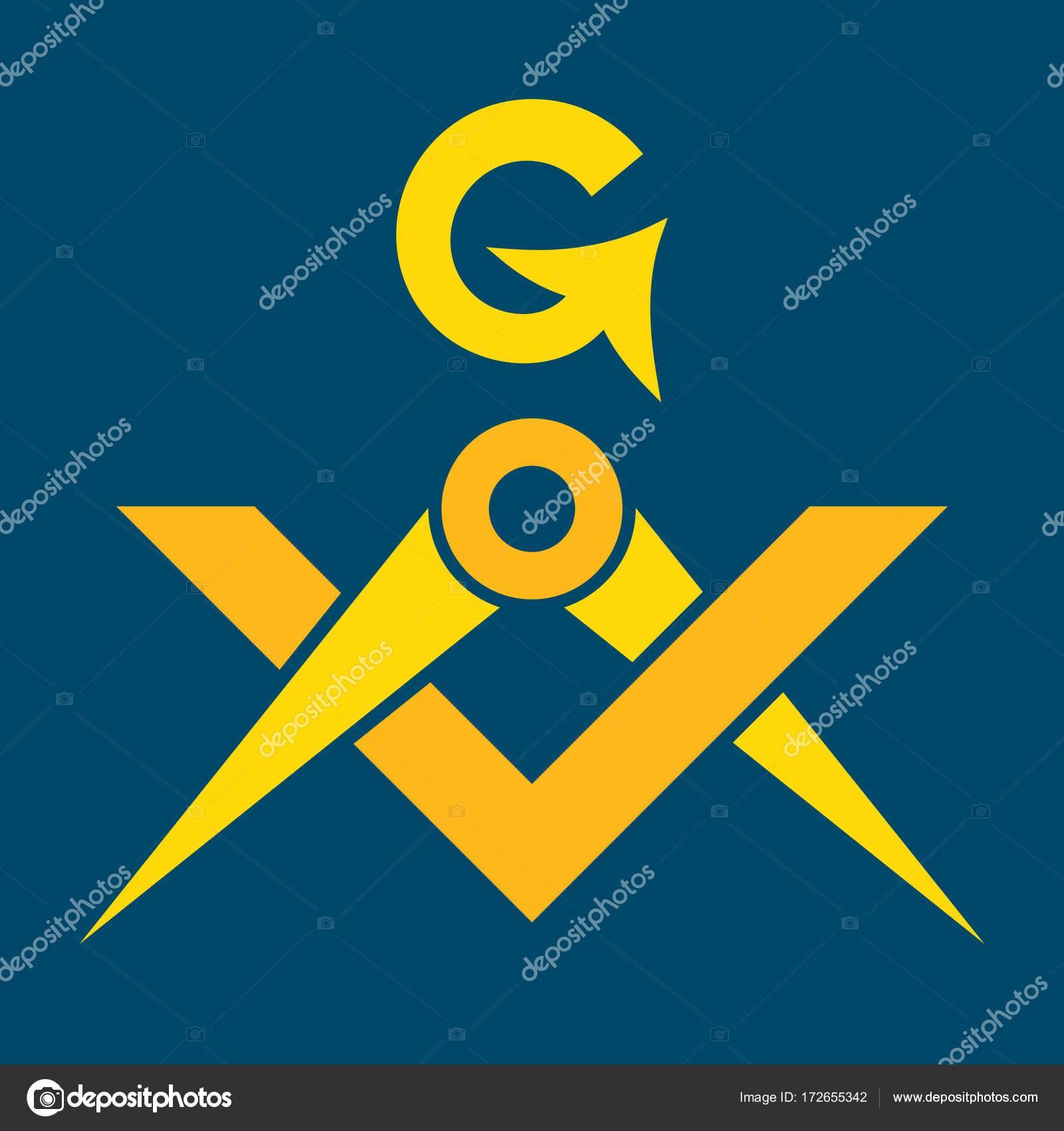 Masonic Square And Compasses Sacral Emblem Of Secret Fraternity
