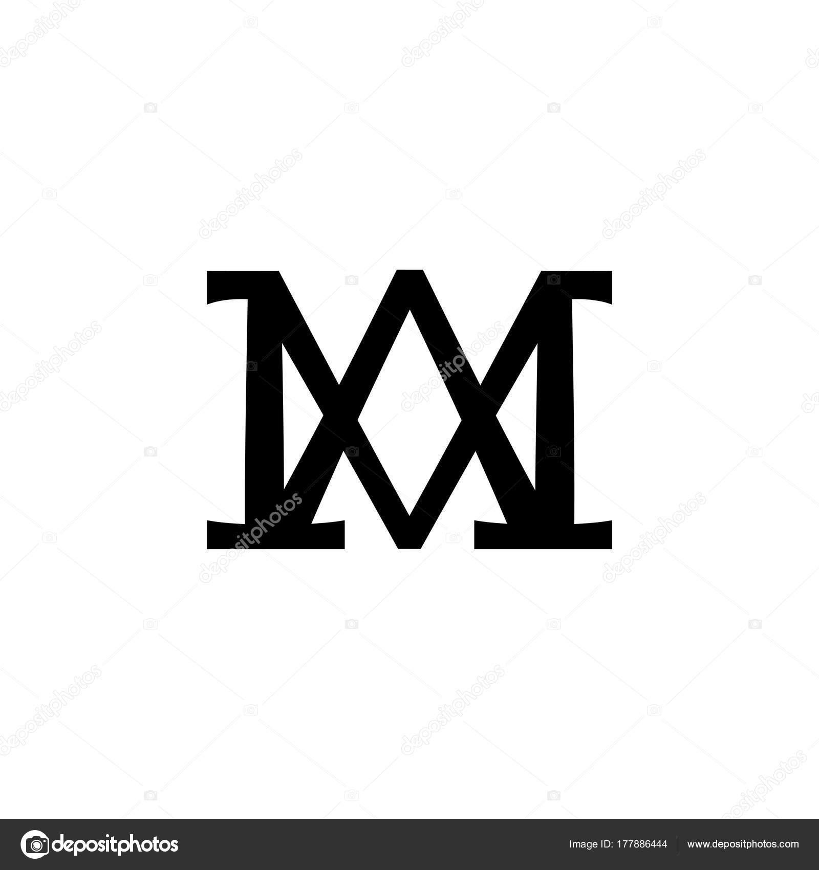 Christian Monogram Of The Virgin Mary Madonna