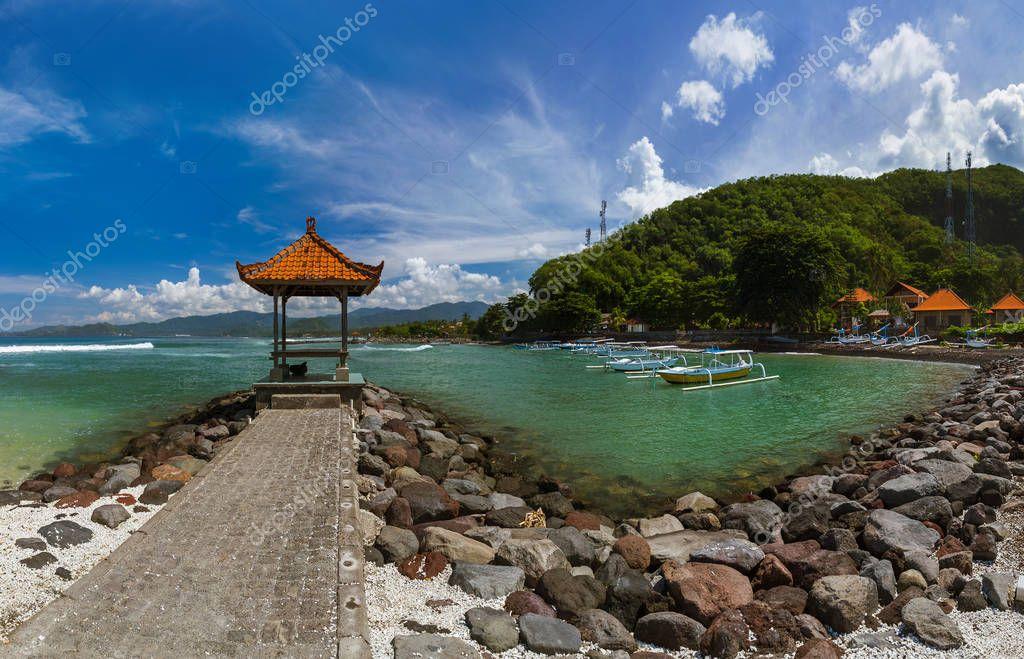 Candidasa Beach Bali Island Indonesia Stock Photo C Violin