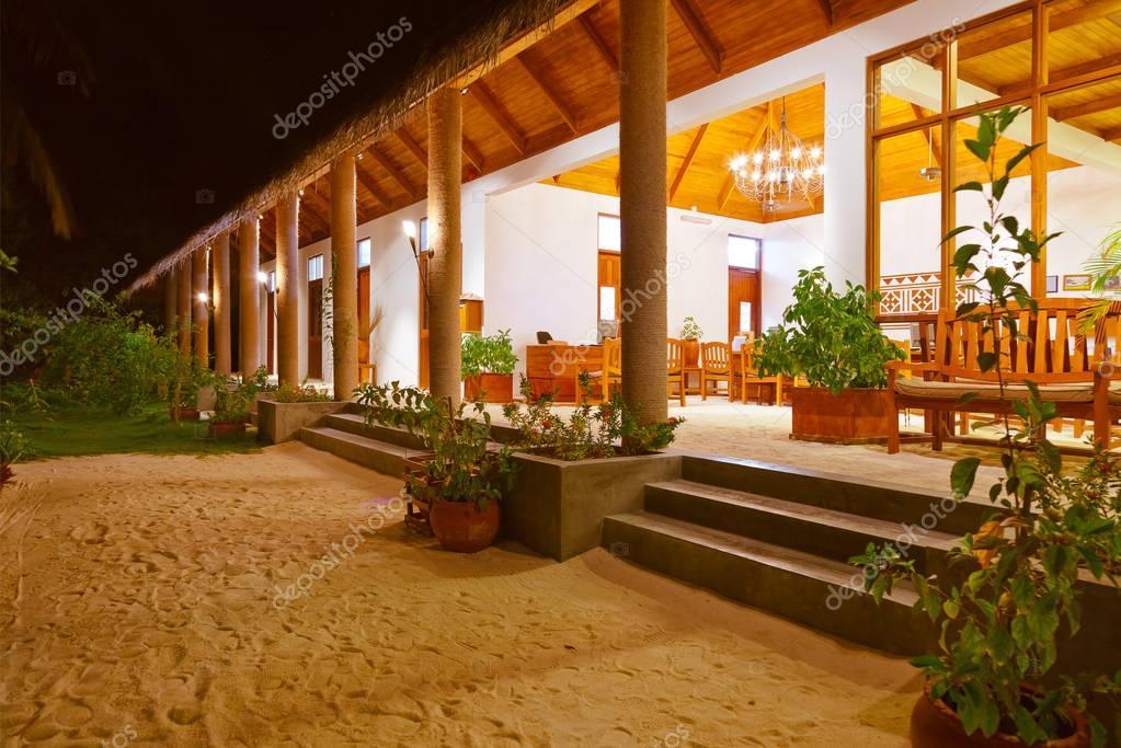 Lobby on Maldives island
