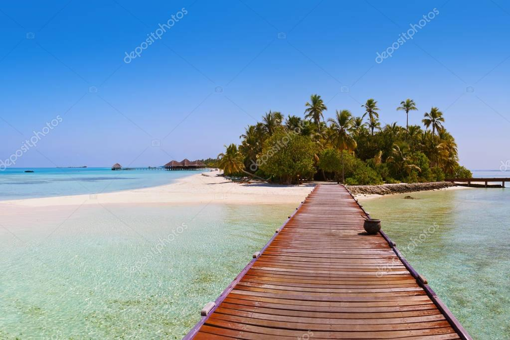 Tropical Maldives island