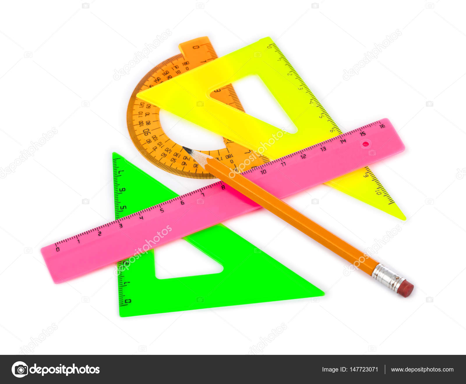 Imágenes Para Reglamentos Escolares Lápiz Y Reglas Multicoloras