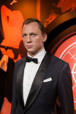 AMSTERDAM, NETHERLANDS - APRIL 25, 2017: Daniel Craig wax statue