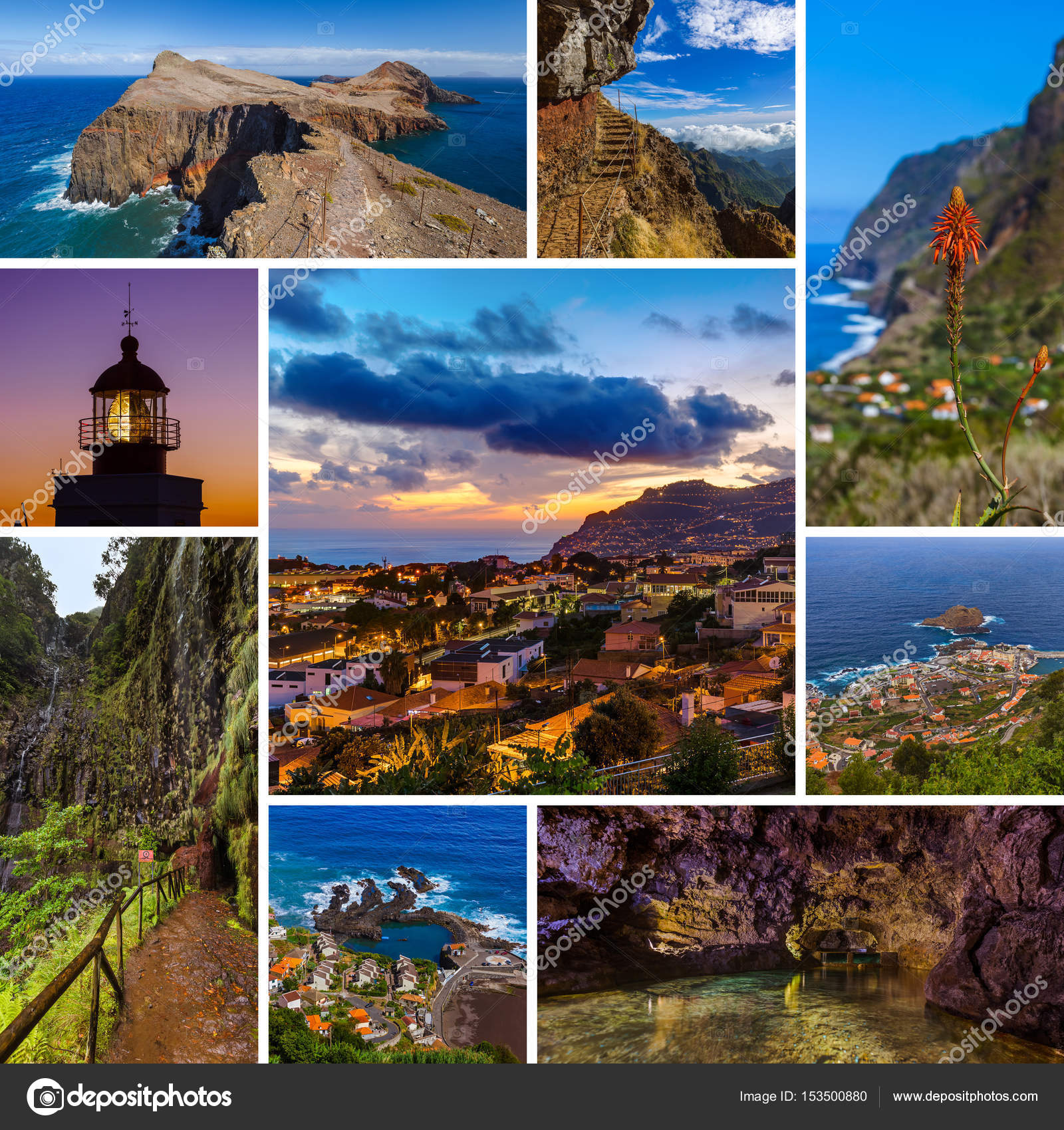 Collage Of Madeira Island In Portugal Travel Images My Photos