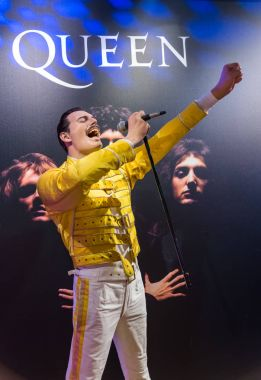 AMSTERDAM, NETHERLANDS - APRIL 25, 2017: Freddie Mercury wax sta