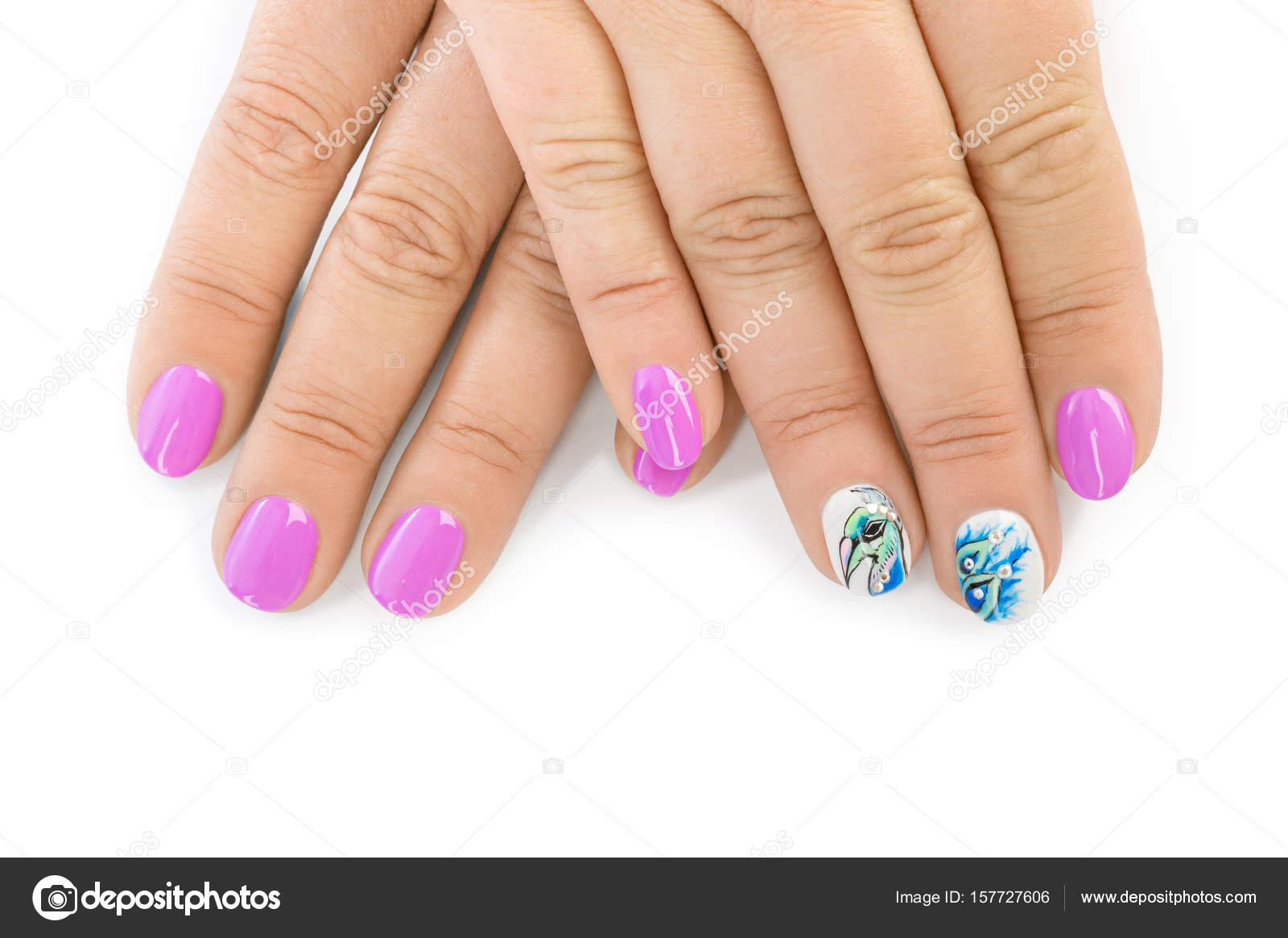 Großartig Muster Fingernägel Dekoration Von Fingernagel Mit - Mode-hintergrund — Foto Von