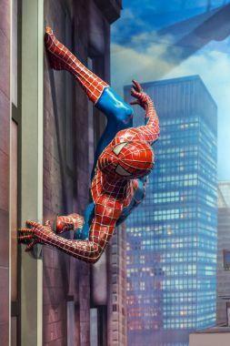 AMSTERDAM, NETHERLANDS - APRIL 25, 2017: Spider-man wax statue i