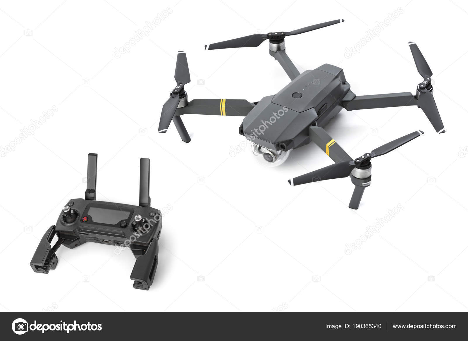 Radio remote control and drone — Stock Photo © Violin #190365340