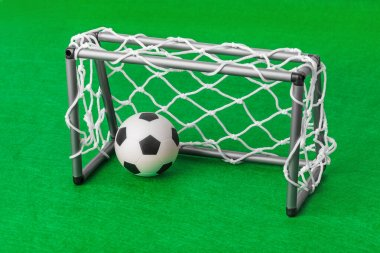 Toy football field and gate