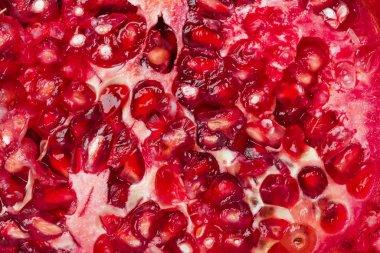 Ripe pomegranate fruit background
