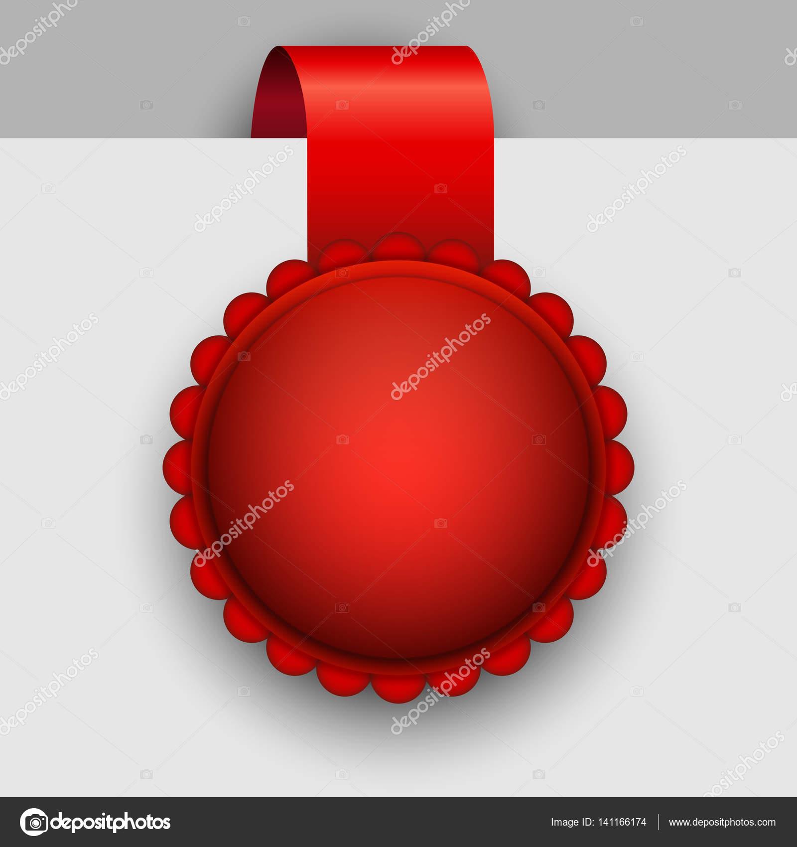 Leere rote Rosette Tag Vektor-Vorlage — Stockvektor © tuulijumala ...
