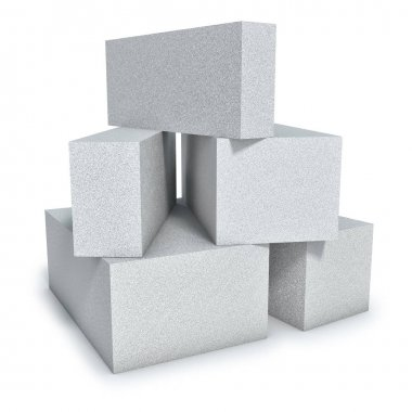 Aerated concrete wall construction blocks