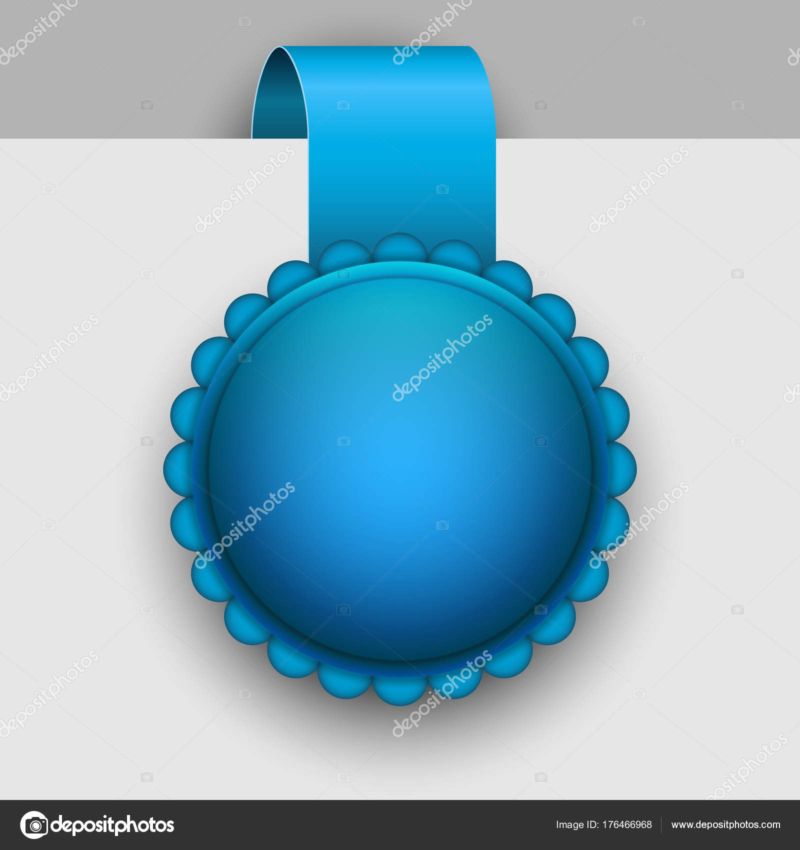 Winter blue rosette tag vector template. — Stock Vector ...