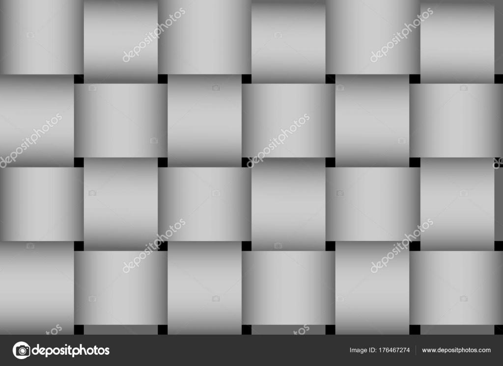 Escala de grises transparente trenzado rayas vector patrón — Archivo ...