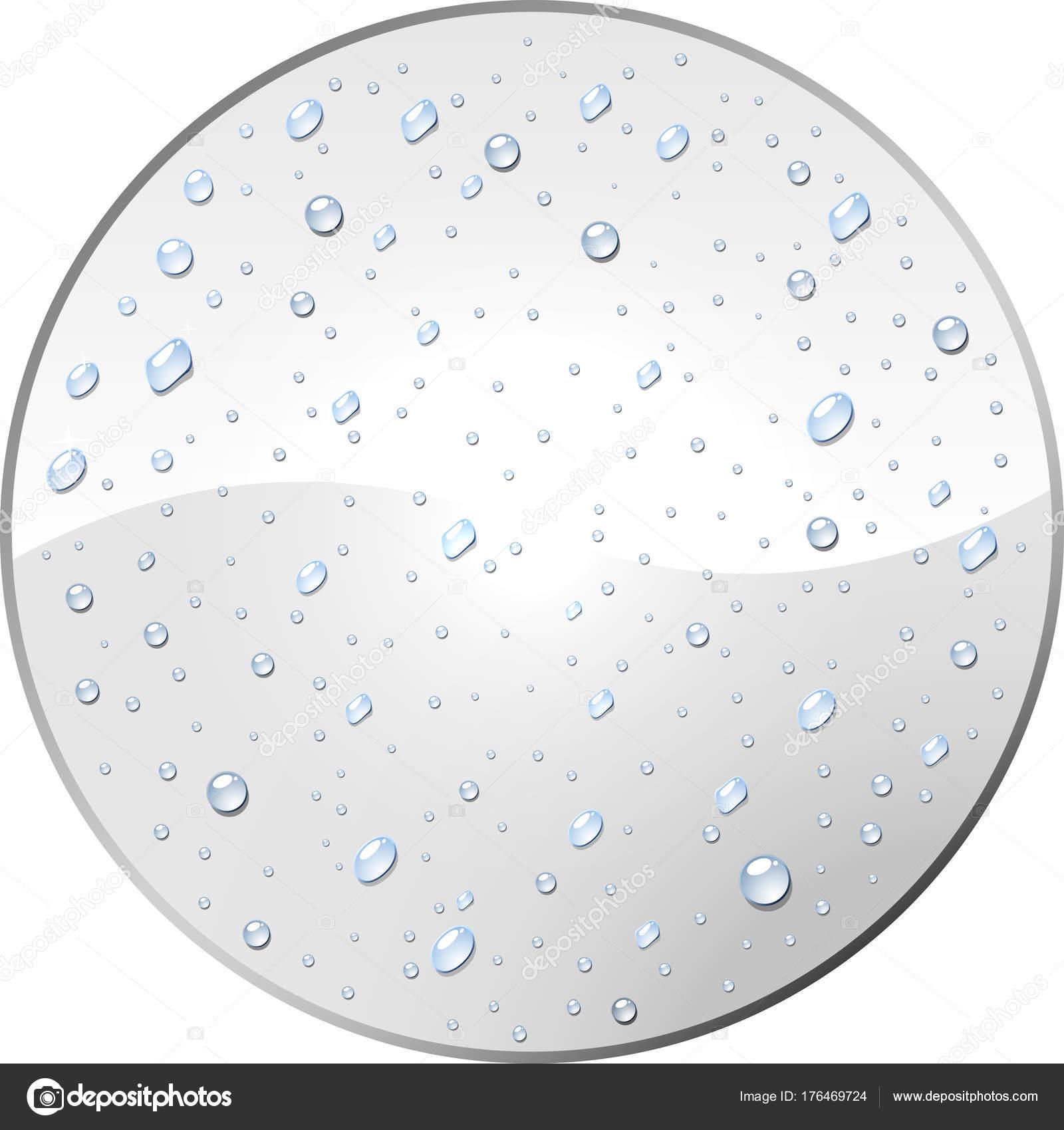 Leere weiße Runde Beschriftung mit Wasser Tau fällt Vorlage ...
