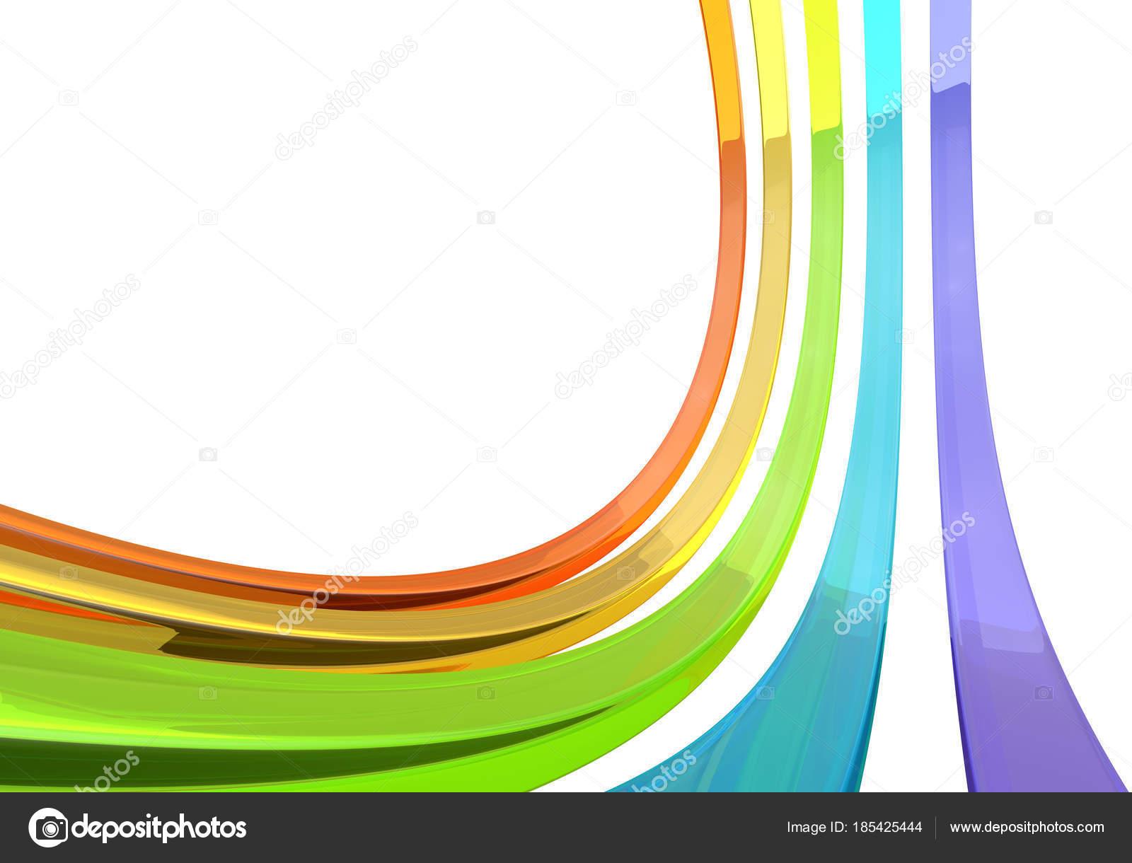 Abstracto 3d barras de cristal en render 3d fondo blanco Fotos de