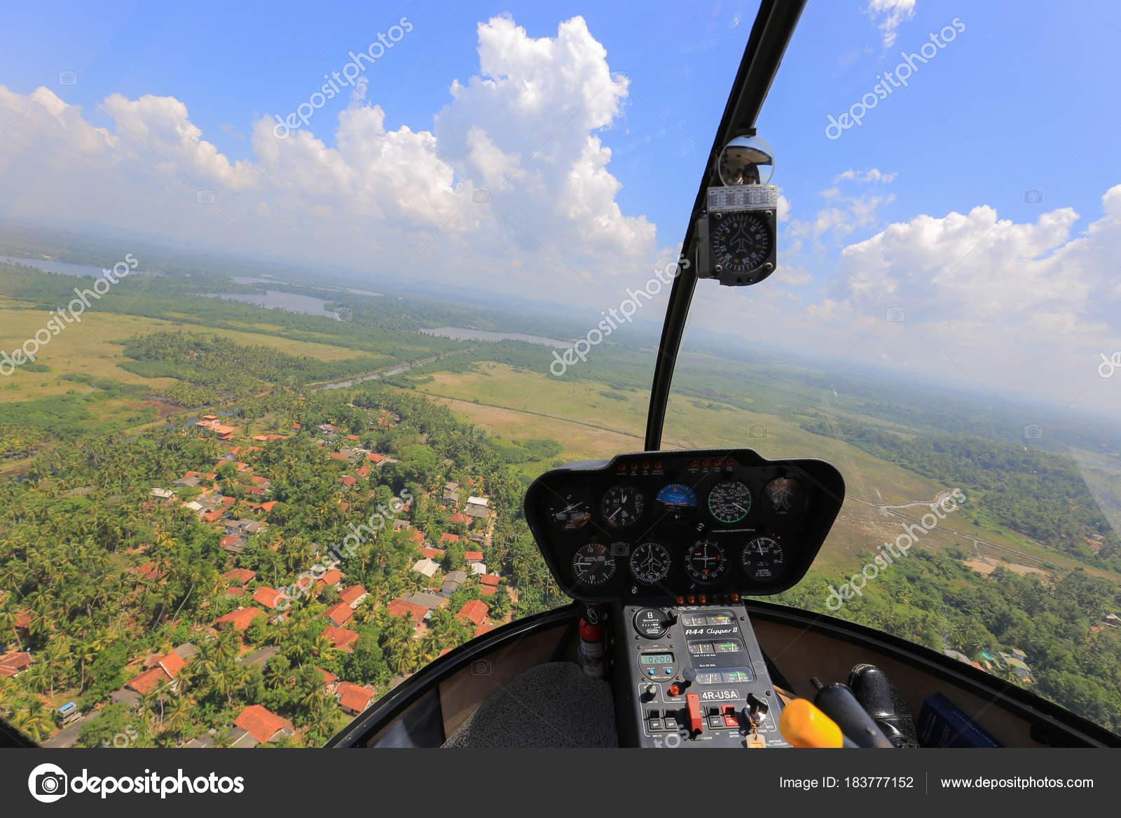 Vue Hélicoptère Intérieur Des Cabine Mouches Sri Lanka ...