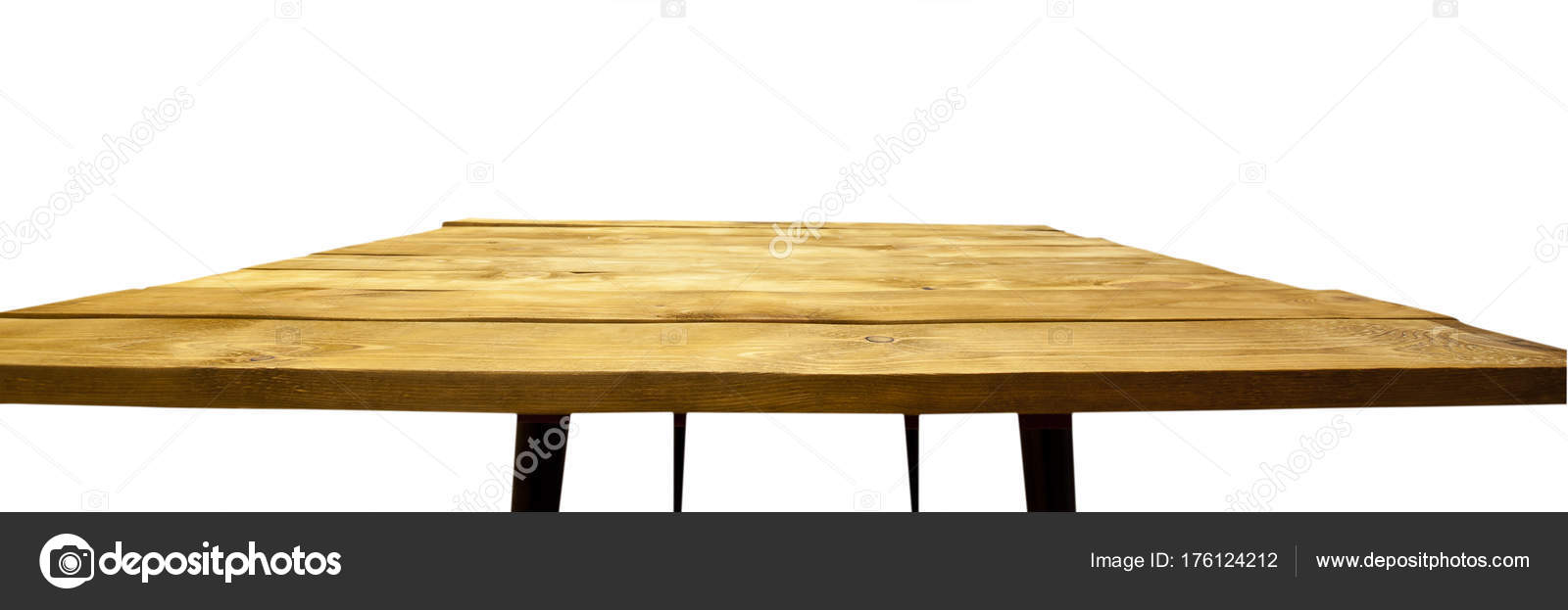 Old Wooden Desk On White Background Stock Photo