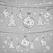 Vánoční dekorace ornament na grey