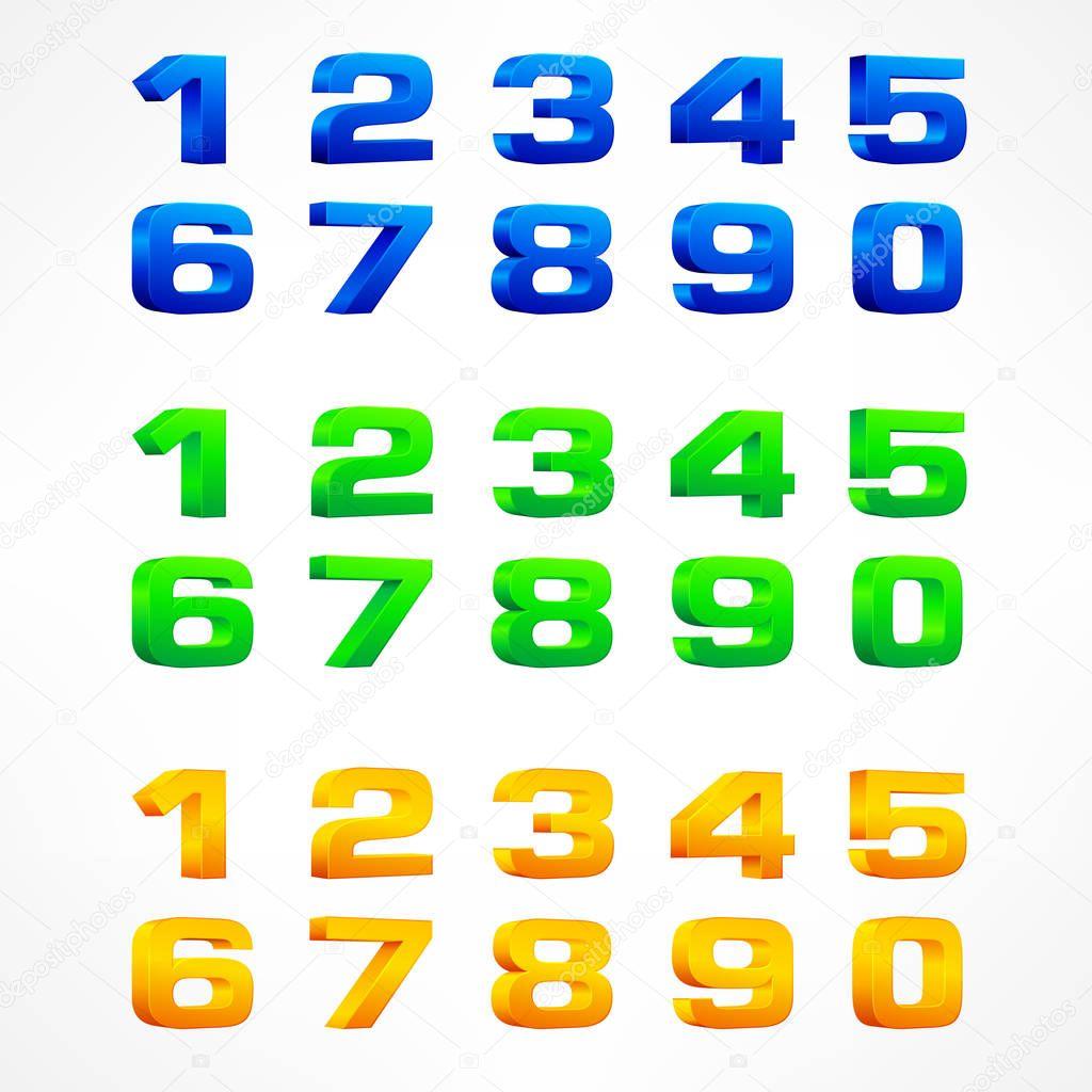 Color alphabet isometric numbers — Stock Vector © creatOR76 #129559012