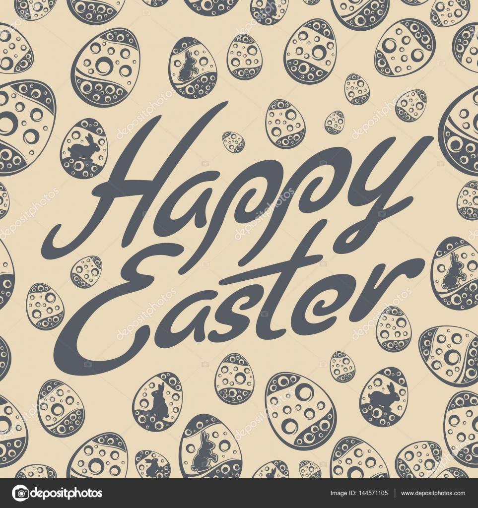 Ostern-Schriftzug Muster grau — Stockvektor © creatOR76 #144571105