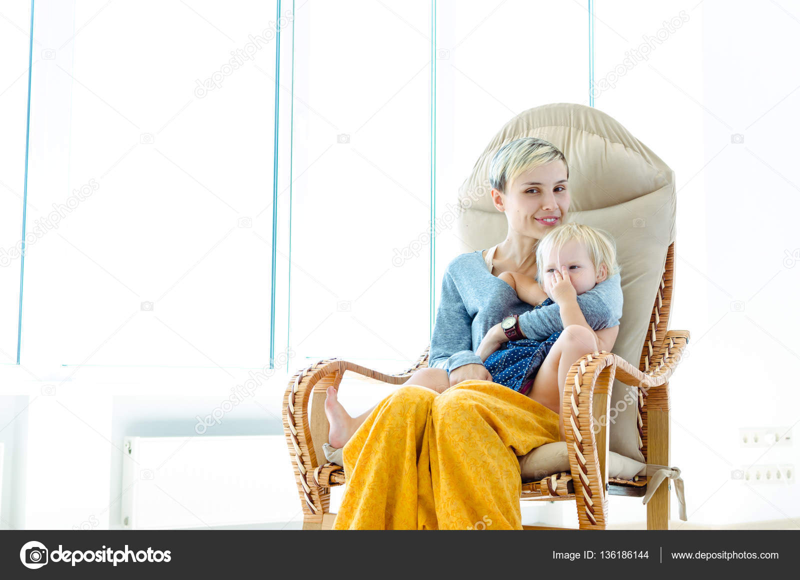 Groovy Mother Daughter Sitting Rocking Chair Indoor Photo Pdpeps Interior Chair Design Pdpepsorg