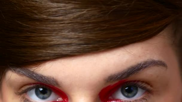 Gyönyörű női szemek. Női szem make-up színes részlete