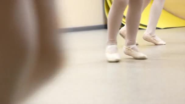 Little girls dance ballet. Children in ballet class
