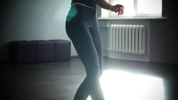 Contemporary happy ballet dancer caucasian woman