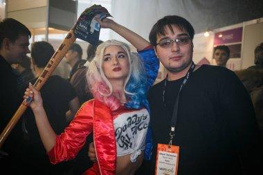 Harley Quinn cosplay animator at vape expo