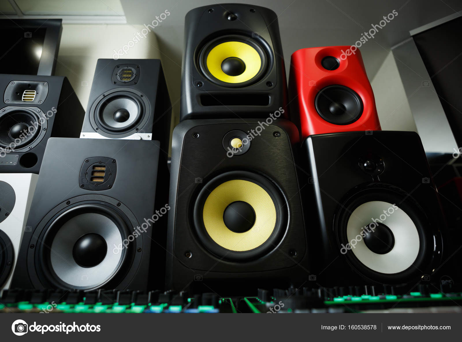 Professional Cabinet Hifi Loudspeaker System For Music Recording U2014 Stock  Photo