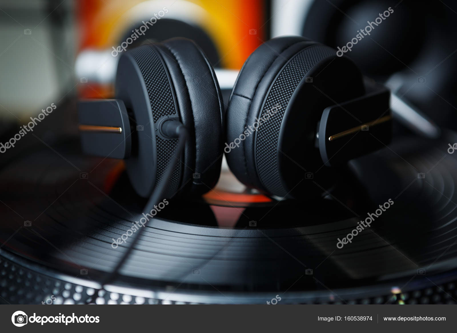 Big Headphones Mix Music Night Club Party Live Concert