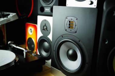 Professional cabinet hifi loudspeaker system for music recording