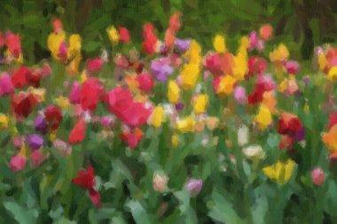 """Картина, постер, плакат, фотообои """"на весеннем поле цветут красивые голландские цветы. картина цветы"""", артикул 341910792"""