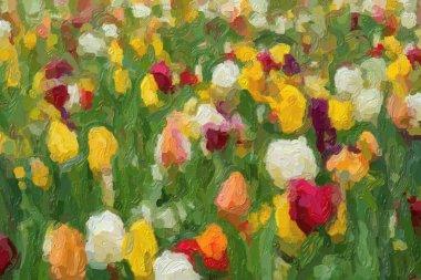 """Картина, постер, плакат, фотообои """"на весеннем поле цветут красивые голландские цветы. """", артикул 341910998"""