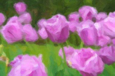 """Картина, постер, плакат, фотообои """"на весеннем поле цветут красивые голландские цветы. """", артикул 341911098"""