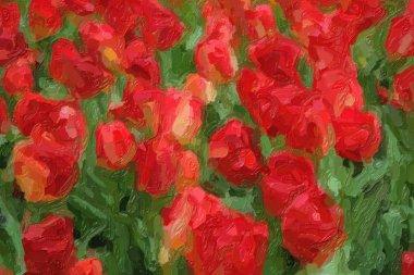 """Картина, постер, плакат, фотообои """"на весеннем поле цветут красивые голландские цветы. """", артикул 341911116"""