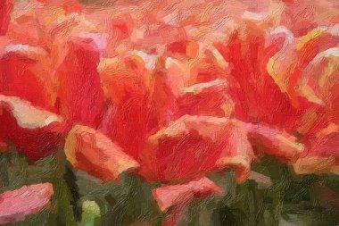 """Картина, постер, плакат, фотообои """"на весеннем поле цветут красивые голландские цветы. """", артикул 341911196"""