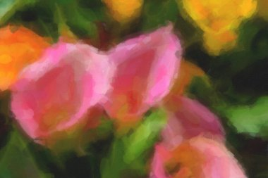 """Картина, постер, плакат, фотообои """"на весеннем поле цветут красивые голландские цветы. """", артикул 341911218"""