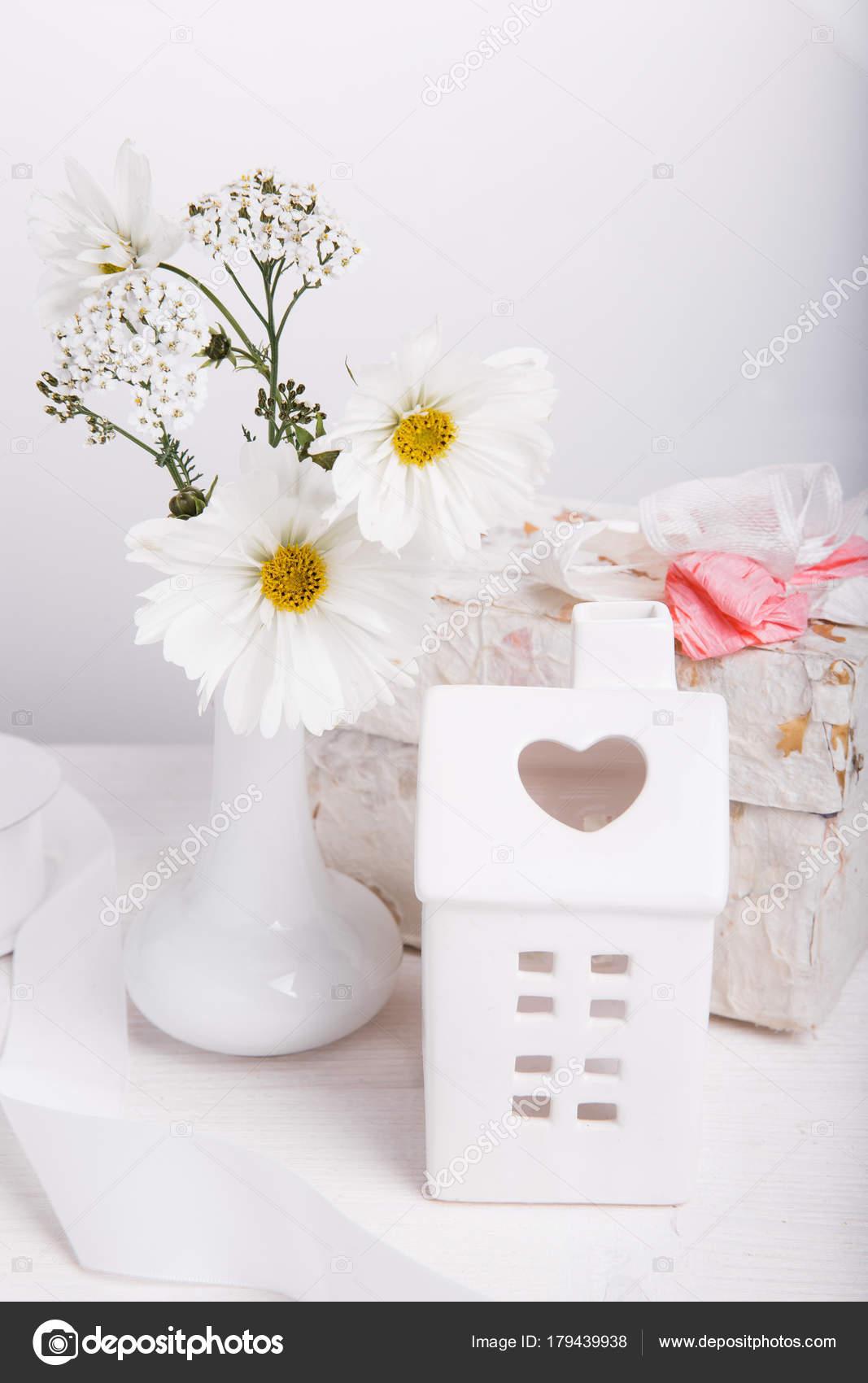 Bouquet Cosmos Flores Silvestres Brancas Cosmea Vaso Presente