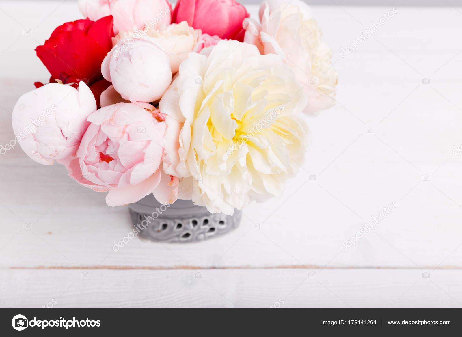 Cinta De Regalo En Ingles Bouquet Rosa Inglés Florero